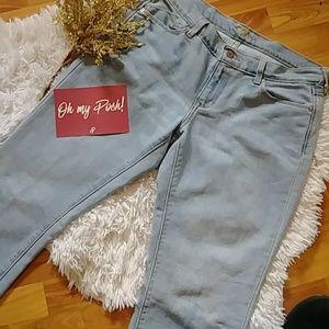 Old Navy The Flirt Long Light Denim Boot Cut Jeans